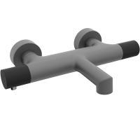 Cмеситель для ванны AltroBagno Intento 0216 GrNe Серый/Черный