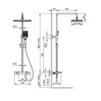 Душевая система AltroBagno Lamberto 030418 NeOp Черный