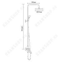 Душевая система Bronze de Luxe Windsor 10120PR