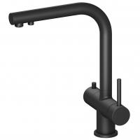 Смеситель для кухни с подключением фильтра и выдвижной лейкой TIMO Saona 2356/03FL Черный