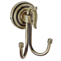 Крючок двойной Boheme Medici 10606 Бронза