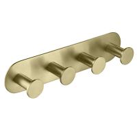 Планка с 4-мя крючками TIMO Saona 13015/17 Золото матовое