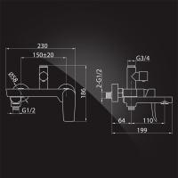 Душевая система Elghansa Shower  Systems 2305599-2L (Set-24-New) Chrome