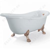 Ванна Migliore Bella на лапах Leone Lux, фурнитура бронза 23101