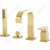 Смеситель на борт ванны Migliore Kvant Gold 25392 DO