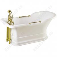 Ванна Migliore Impero Podium на подиуме, фурнитура золото 25510