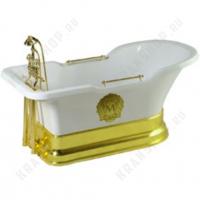 Ванна Migliore Impero Podium на подиуме, фурнитура золото 25813