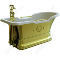 Ванна Migliore Impero Podium на подиуме, фурнитура золото 26351