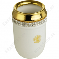 Стакан Migliore Dubai 26592 Белый/декор золото