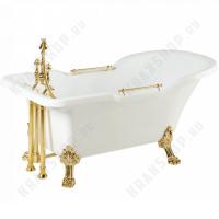 Ванна Migliore Impero на лапах Leone Standart, фурнитура золото 26925