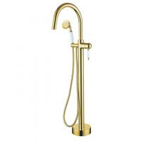 Смеситель для ванны напольный Boheme Imperiale 289 Gold