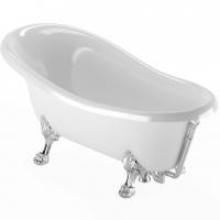 "Ванна Veragio MARKIZA на лапах ""LEONE""  STANDART 30257 Chrome"