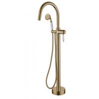 Смеситель для ванны напольный Boheme Medici 309 Bronze