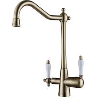 Смеситель для кухни под фильтр Kaiser Vincent 31844-3 Bronze