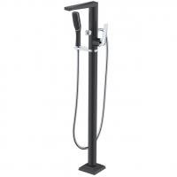 Смеситель для ванны напольный Boheme Venturo 379-B Черный/Хром