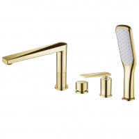 Смеситель на борт ванны Boheme Venturo 380 Золото