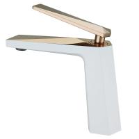 Смеситель для раковины Boheme Venturo 381-W Белый/Золото