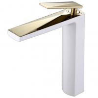 Смеситель для раковины Boheme Venturo 382-W Белый/Золото