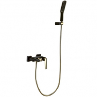 Смеситель для ванны Boheme Venturo 383-B Черный/Золото