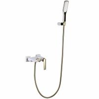 Смеситель для ванны Boheme Venturo 383-W Белый/Золото