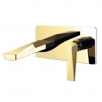 Cмеситель для раковины настенный Boheme Venturo 385 Gold