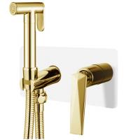 Смеситель гигиенический Boheme Venturo 387-W Белый/Золото