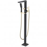 Смеситель для ванны напольный Boheme Venturo 389-B Черный/Золото