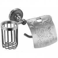Бумагодержатель и освежителя воздуха Zorg Antic AZR 20 Silver