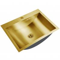 Раковина ZorG INOX U 4560 Bronze