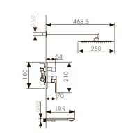 Душевая система Kaiser Linear 59077 Chrome