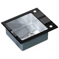 Кухонная мойка Zorg Inox Glass GL-6051-Black/Chrome
