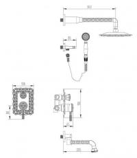 Душевая система ZorG Antic A 104DS-SL