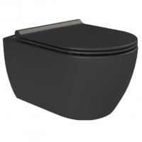 Подвесной унитаз с крышкой ультра слим Boheme Nero 961/2 Черный