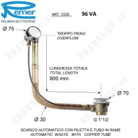 Обвязка для угловой ванны Remer 96VA Хром