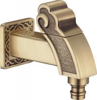 Кран для бани (насадка для шланга) ZorG A 31111 Bronze