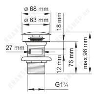 Донный клапан для раковины Wasserkraft A080 Black