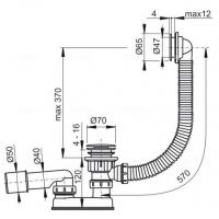 Обвязка для ванны AlcaPlast А505CRM Хром
