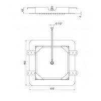 Тропический душ Webert AC0844845 Полированная сталь