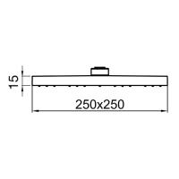 Тропический душ Webert AC1012560BRASS Черный матовый