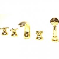 Смеситель на борт ванны Webert Armony AM730401010 Золото