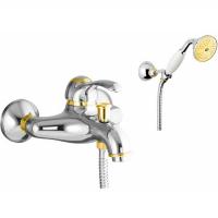 Cмеситель для ванны Webert Aurora AU850101017 Хром/Золото