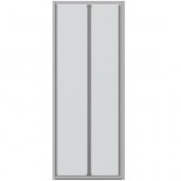 Душевая дверь в нишу с одной складной дверью Bravat Drop BD080.4120A Хром