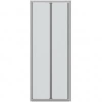 Душевая дверь в нишу с одной складной дверью Bravat Drop BD100.4120A Хром