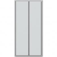 Душевая дверь в нишу с одной складной дверью Bravat Line BD100.4121A Хром