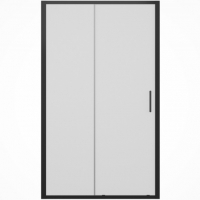 Душевая дверь в нишу, с одной раздвижной дверью Bravat BlackLine BD120.4101B Черный