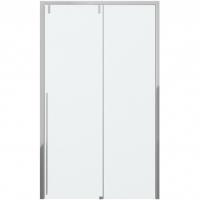 Душевая дверь в нишу с одной раздвижной дверью Bravat Slim Line BD120.4105A Хром