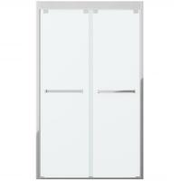 Душевая дверь в нишу с двумя раздвижными дверьми Bravat Stream BD120.4203S Хром