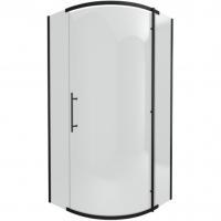 Душевой уголок с одной распашной дверью Bravat BlackLine BS090.1110A Черный