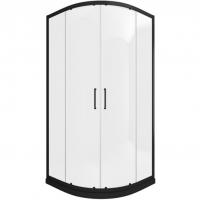 Душевой уголок с двумя раздвижными дверьми Bravat BlackLine BS090.1201B Черный