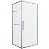 Душевой уголок  с одной распашной дверью Bravat Line BS090.2116A Хром